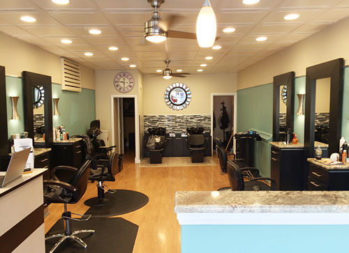 headlines hair design in havertown pa new salon decor. Black Bedroom Furniture Sets. Home Design Ideas